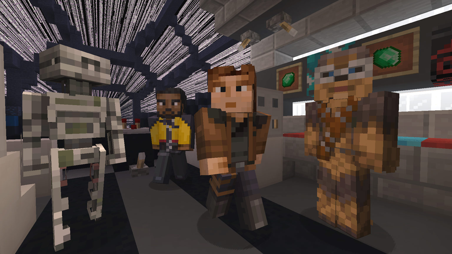 Tips for building the millennium falcon in minecraft
