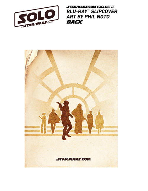 Back cover of StarWars.com's exclusive Solo: A Star Wars Story Blu-ray cover.