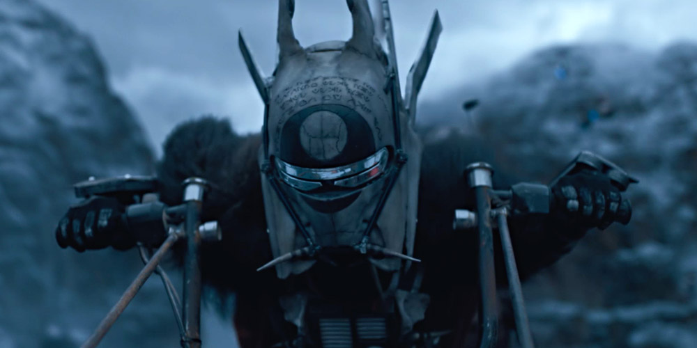 Enfys Nest is seen in a scene from Solo: A Star Wars Story.