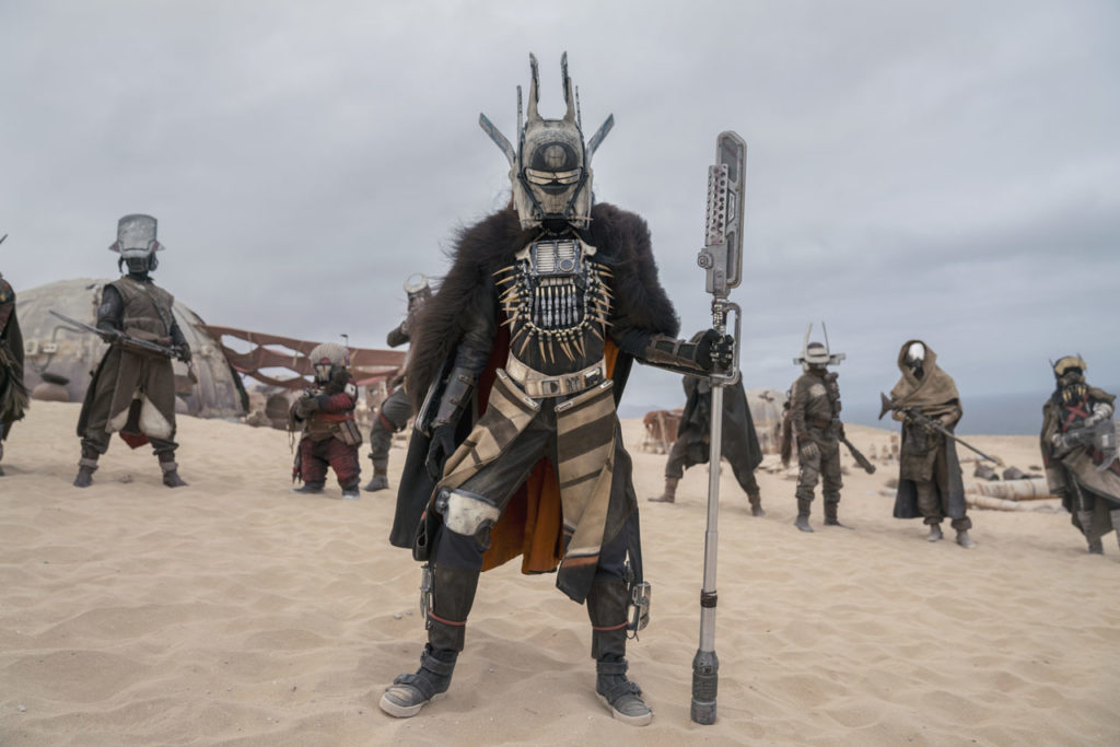 Enfys Nest and the Cloud-Riders in Solo: A Star Wars Story.