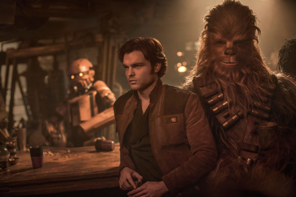 Han and Chewbacca in Solo: A Star Wars Story.