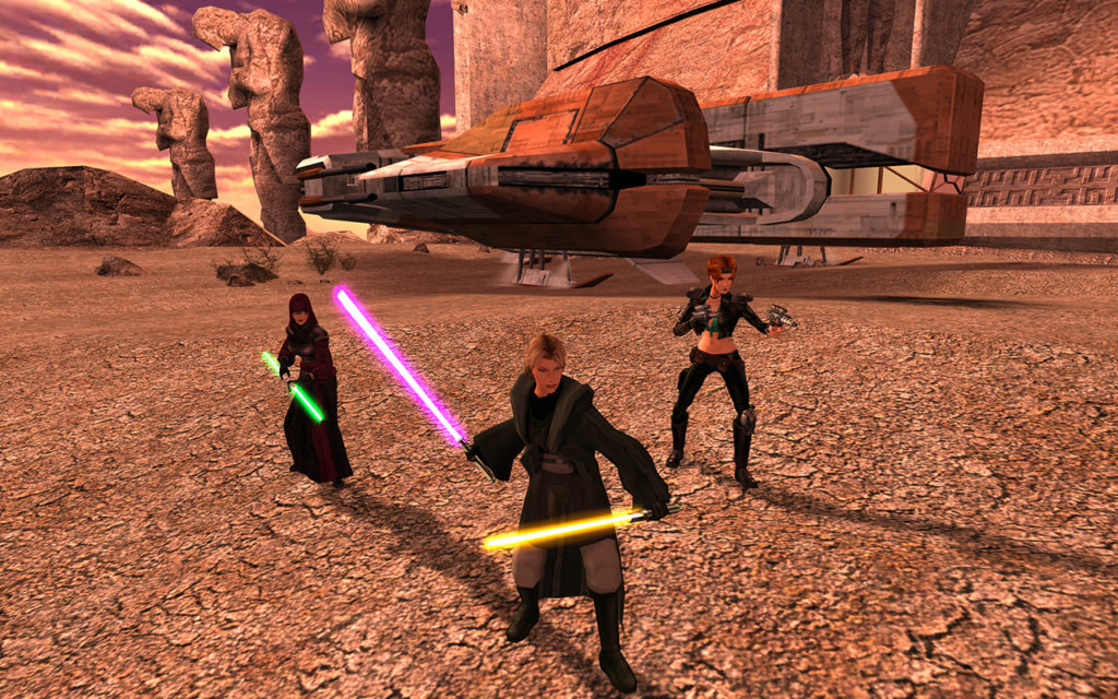 Knights of the Old Republic II screenshot of Jedi.