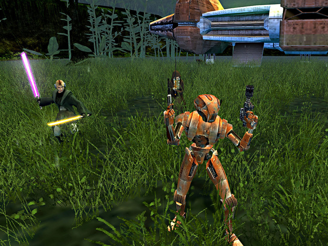 A screenshot from the videogame Star Wars Knights of the Old Republic II: The Sith Lords.