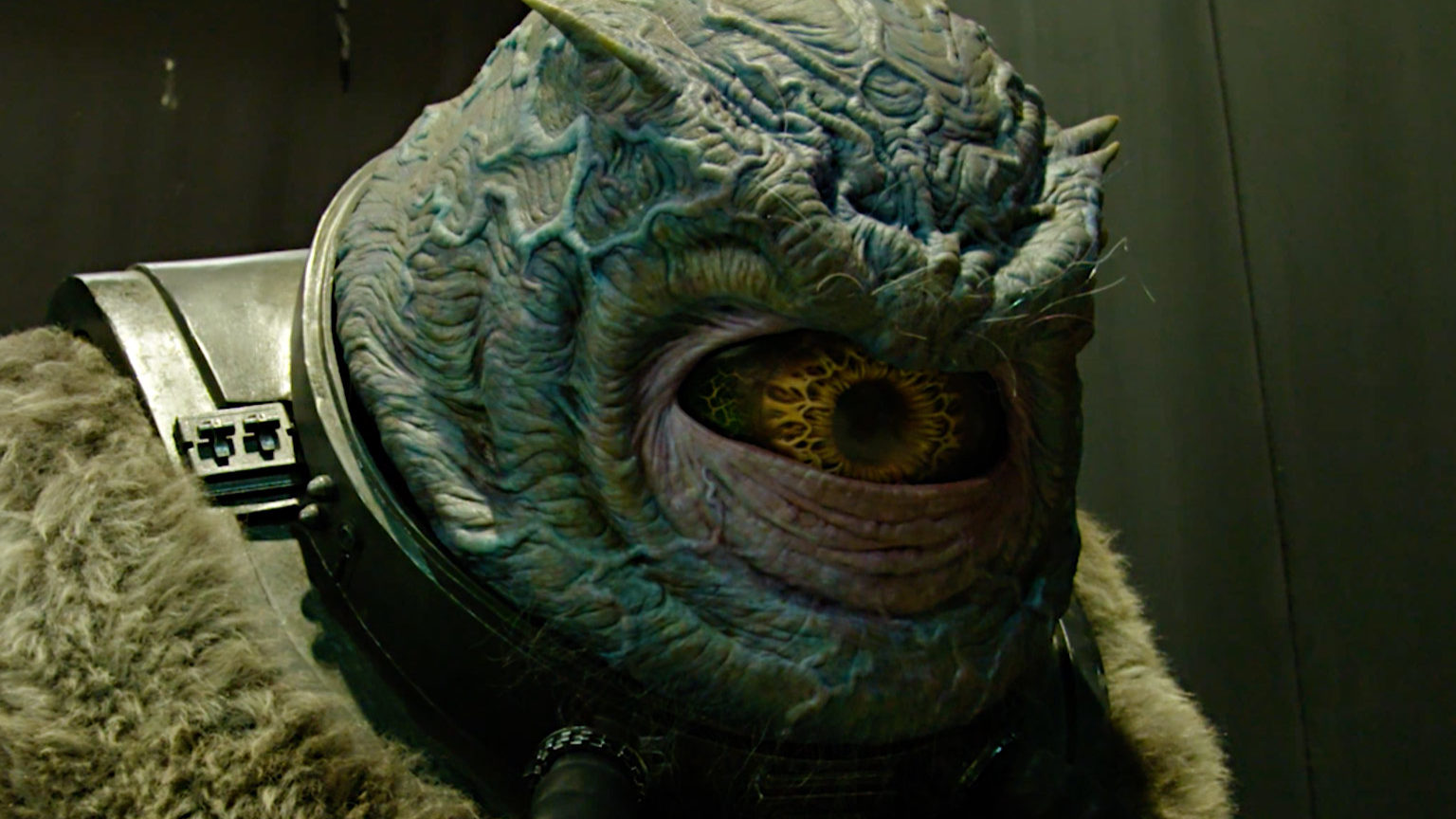 An alien known as Big Eye is seen from Solo: A Star Wars Story.