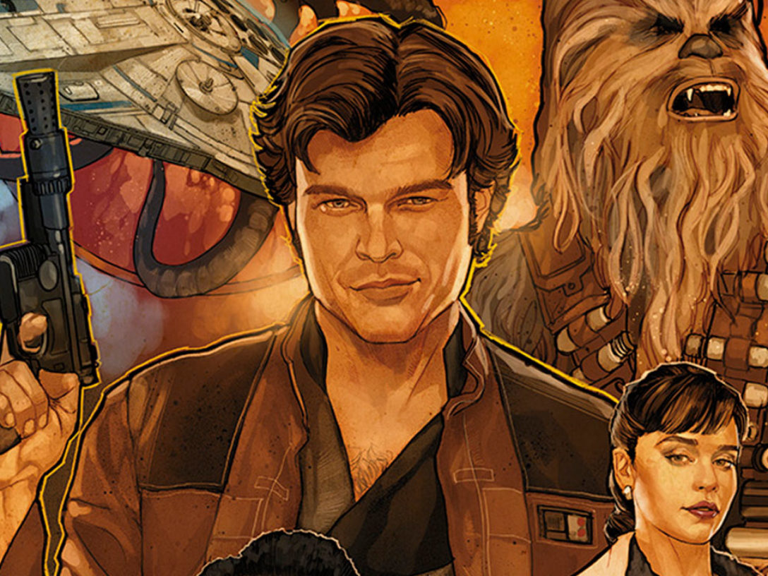 Solo: A Star Wars Story Blu-ray cover illustration by Phil Noto.
