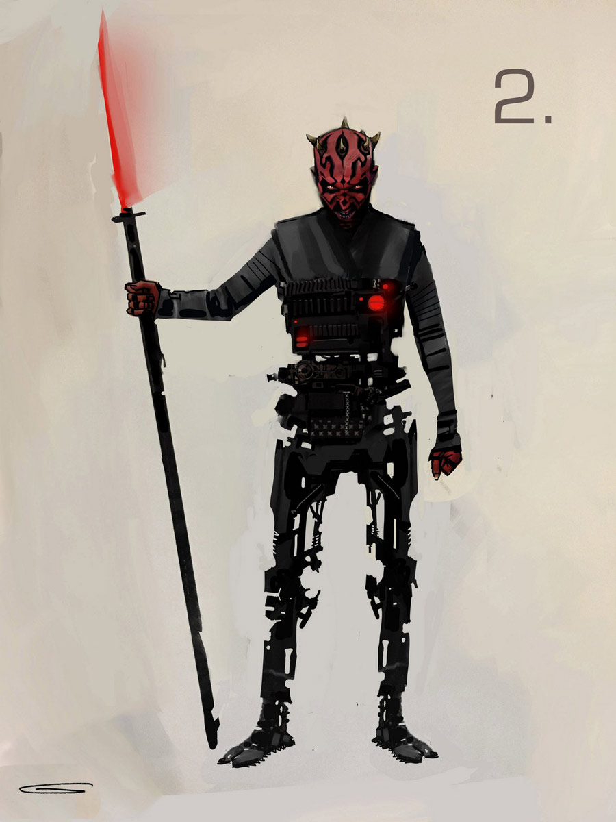 Maul concept art from Solo: A Star Wars Story.