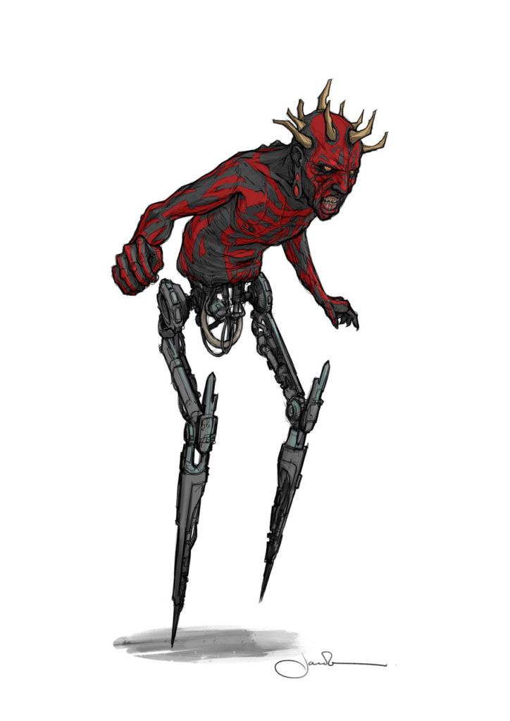 Maul concept art by Jake Lunt Davies for Solo: A Star Wars Story.