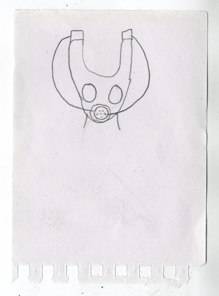 Auromae Iselo original sketch by Jake Lunt Davies' daughter.