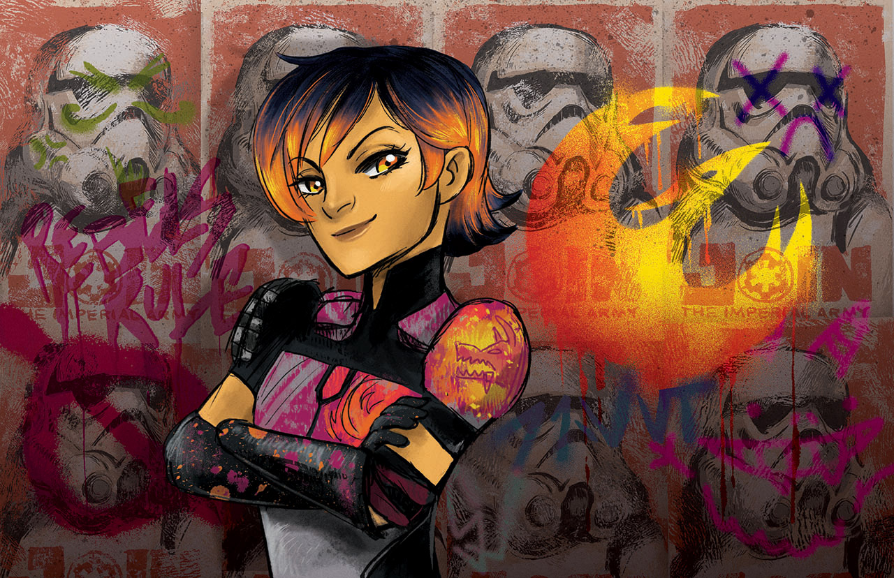 Sabine Wren shown in Star Wars: Women of the Galaxy.