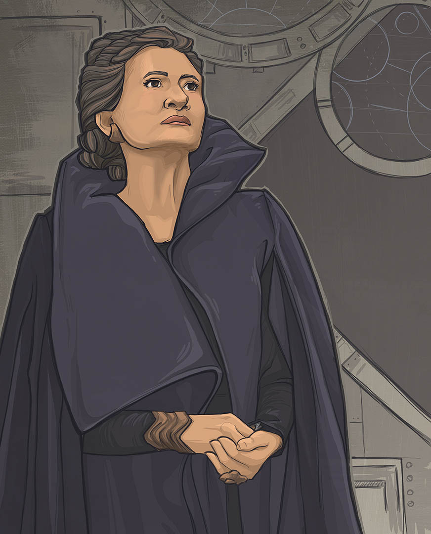 Leia shown in Star Wars: Women of the Galaxy.