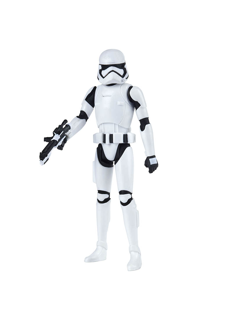 A stormtrooper from the Hasbro Star Wars Resistance line.