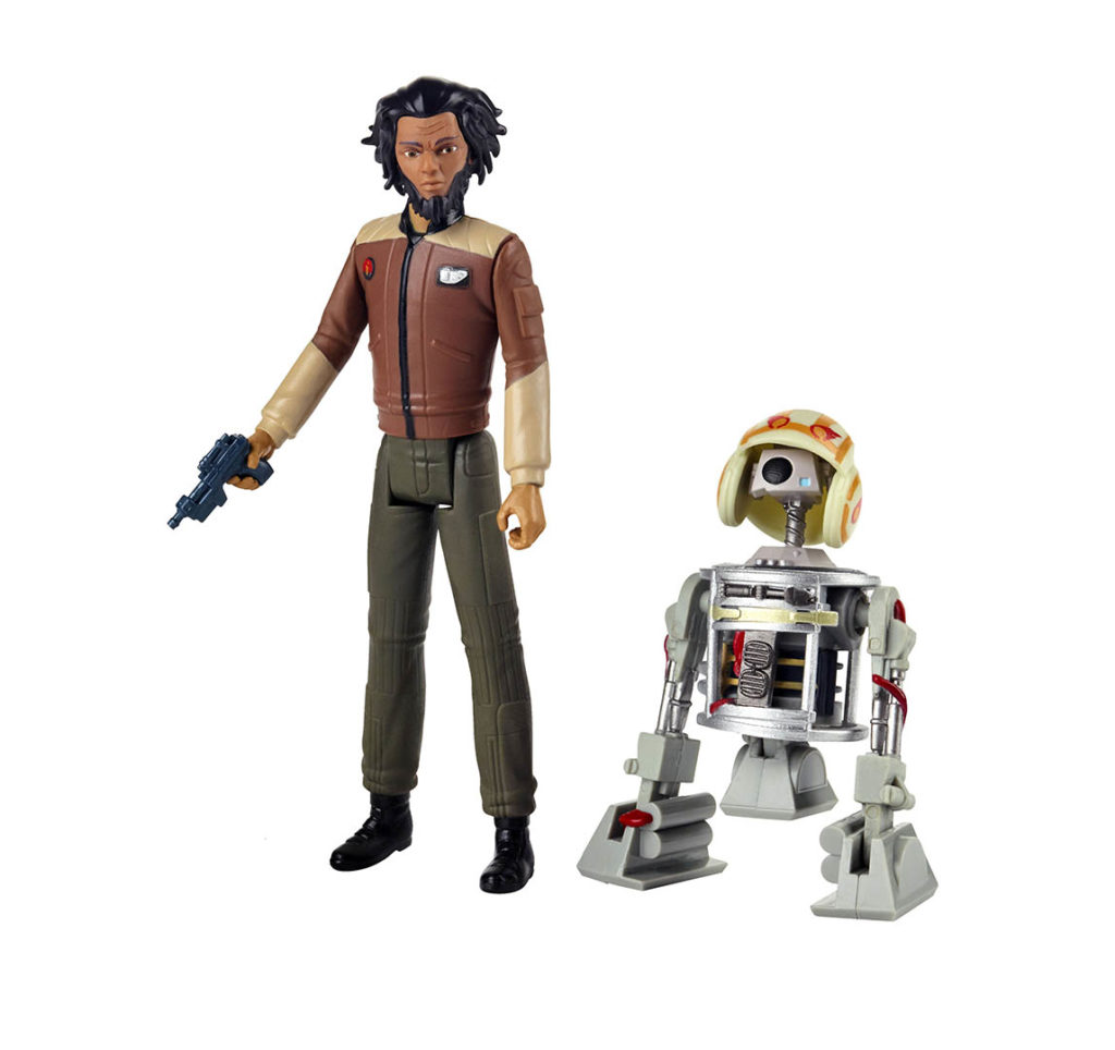 Yeager and Bucket from the Hasbro Star Wars Resistance line.