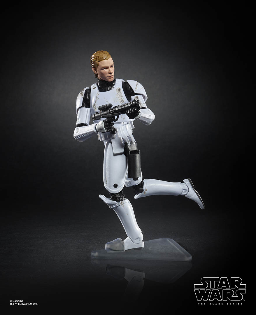 Hasbro's The Black Series Luke Skywalker in stormtrooper armor.