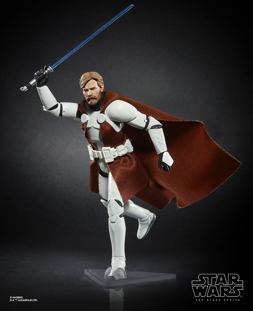 Hasbro's The Black Series Obi-Wan Kenobi in Clone Wars armor.