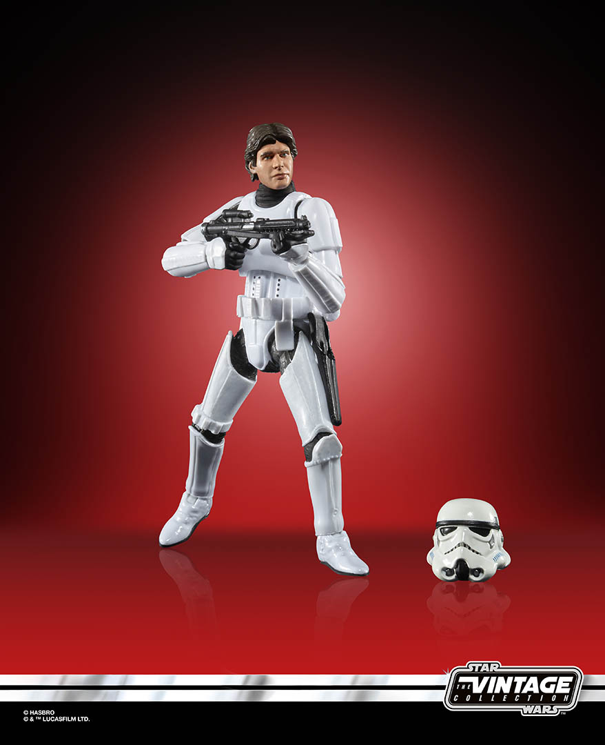 Hasbro's Vintage Collection Han Solo in stormtrooper gear.