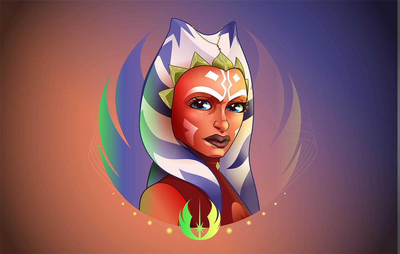 Ahsoka shown in Star Wars: Women of the Galaxy.