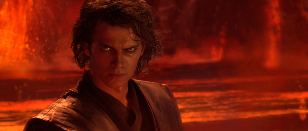 Anakin Skywalker on Mustafar in Star Wars: Revenge of the Sith.