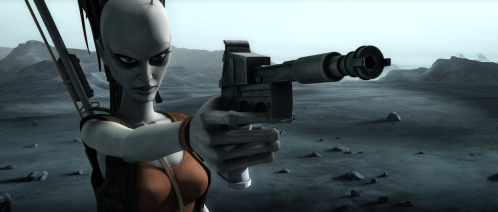 Aurra Sing in Star Wars: The Clone Wars.
