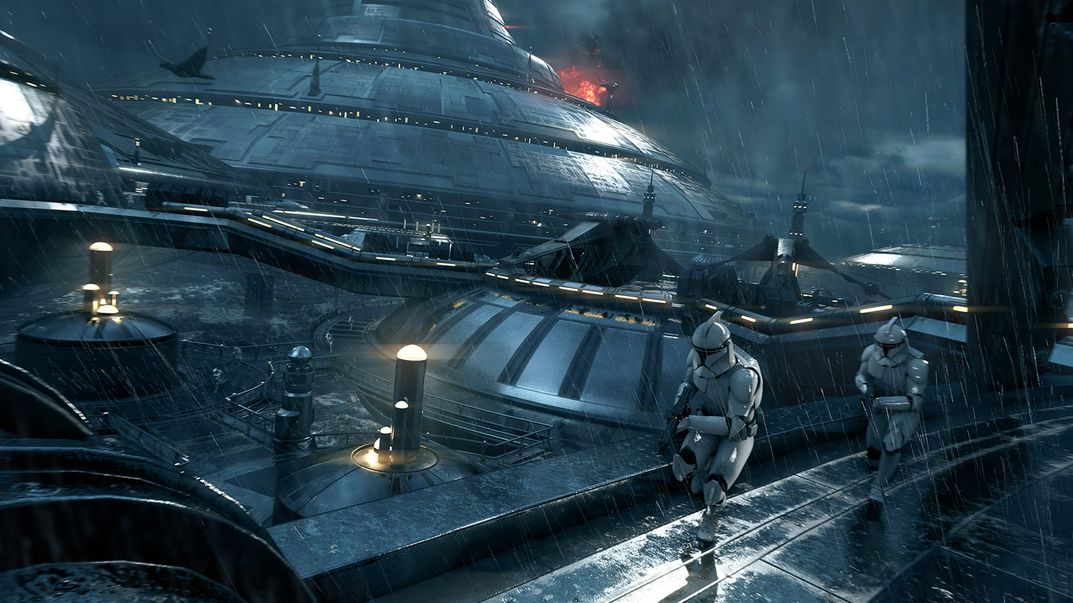 The Kamino map in Star Wars Battlefront II.
