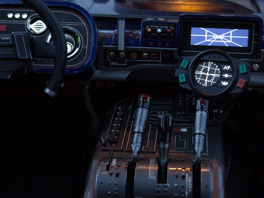 The dashboard of Han's landspeeder in Solo: A Star Wars Story.