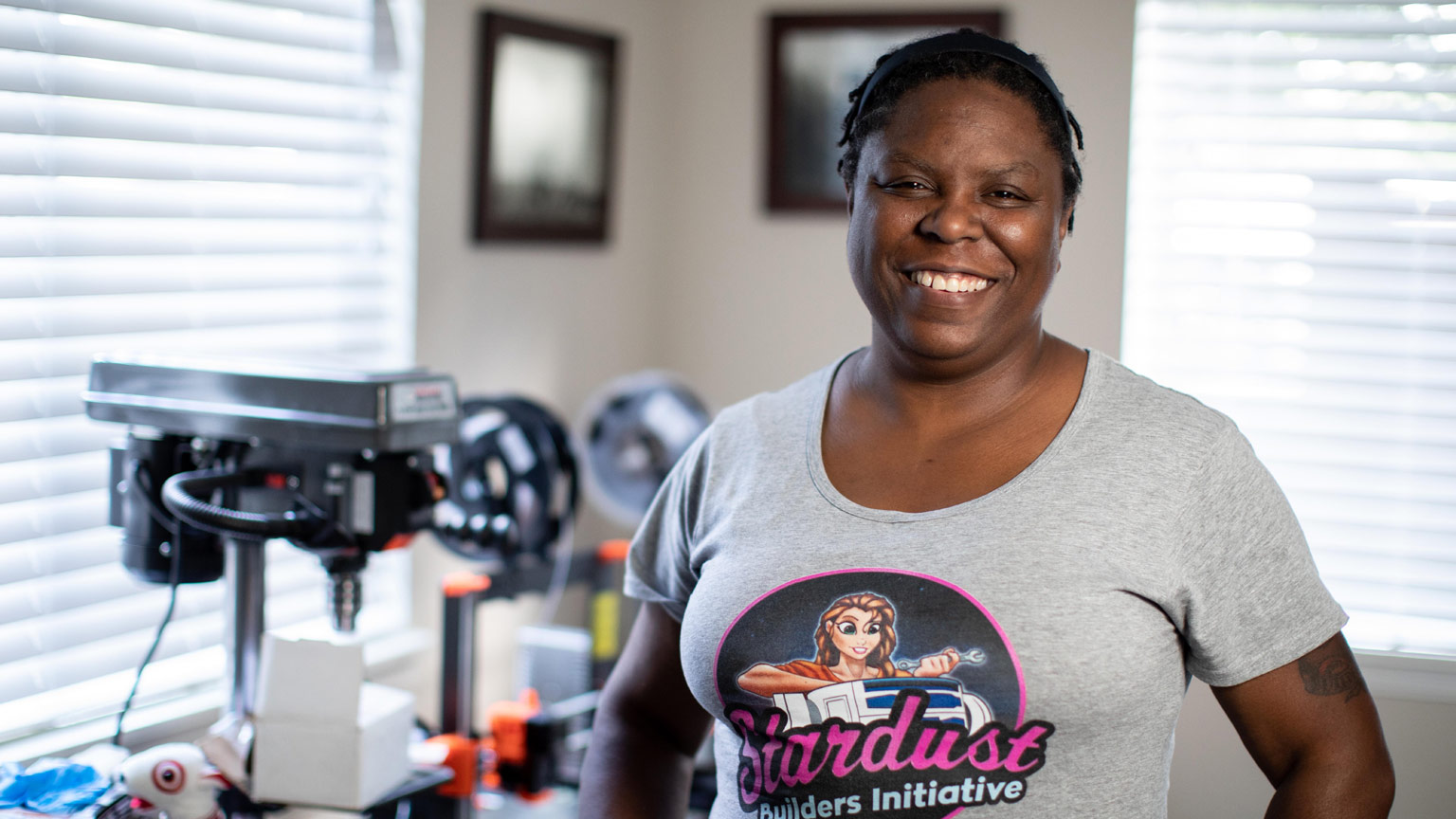 Christina Cato, droid builder, featured in Our Star Wars Stories.