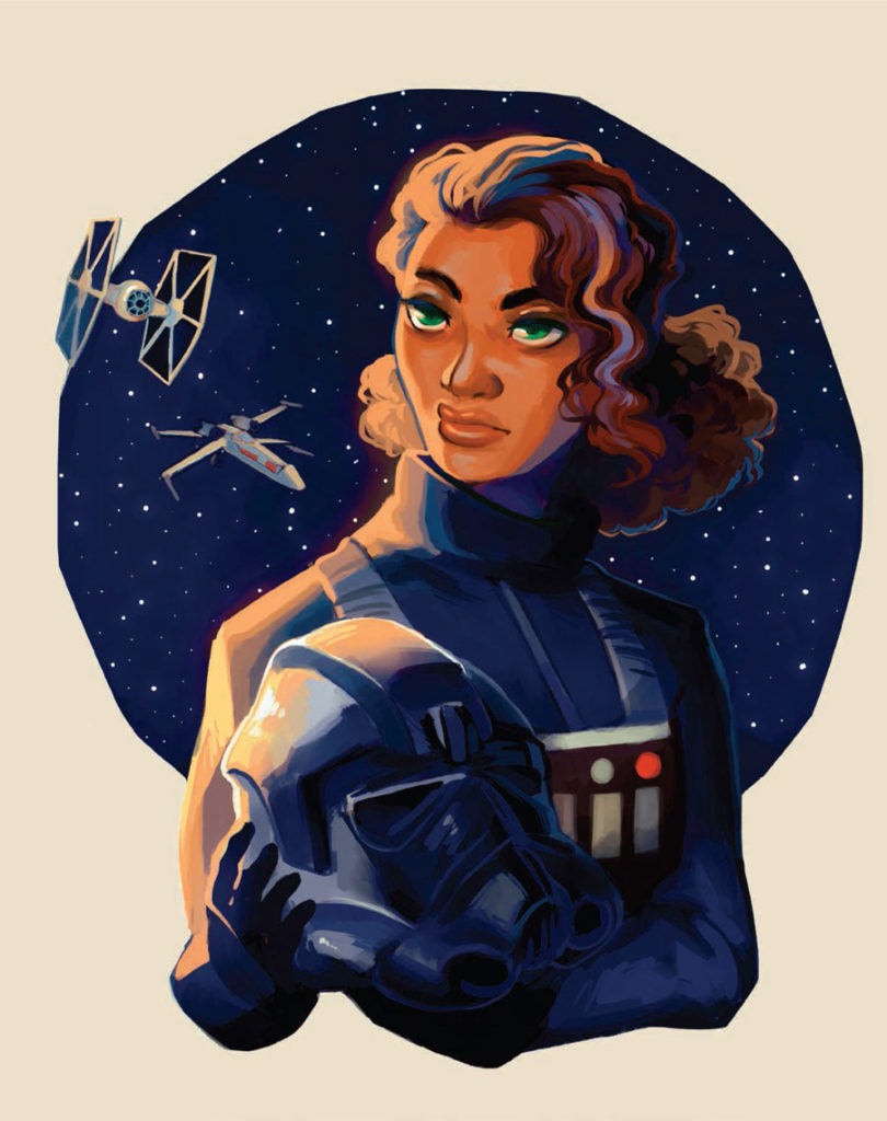 Ciena Ree art from Star Wars: Women of the Galaxy.