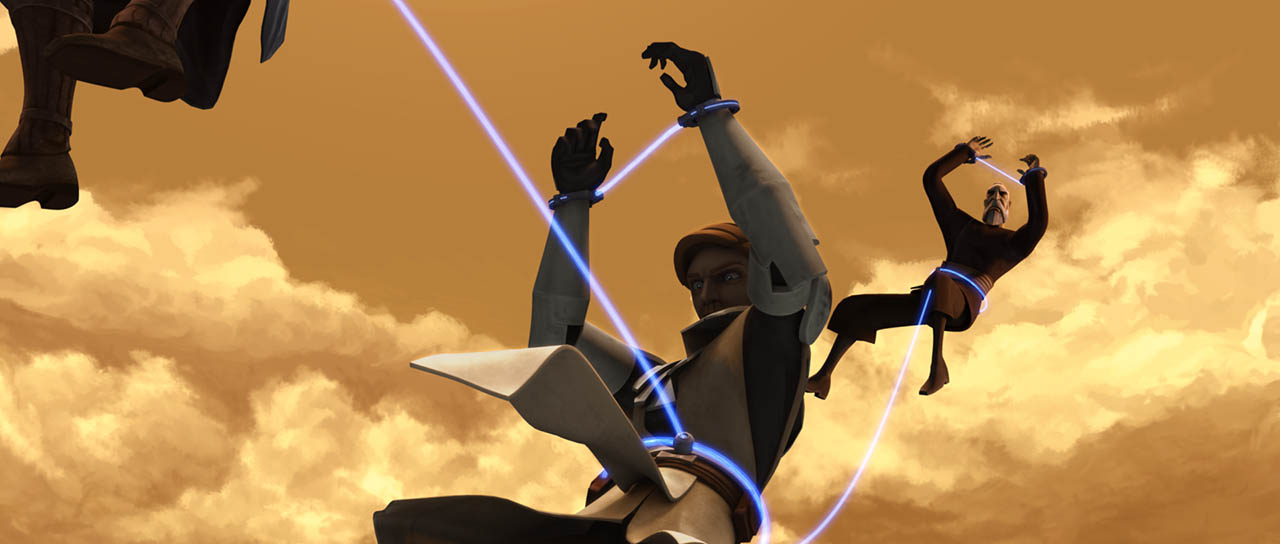 """A scene from """"The Gungan General."""""""