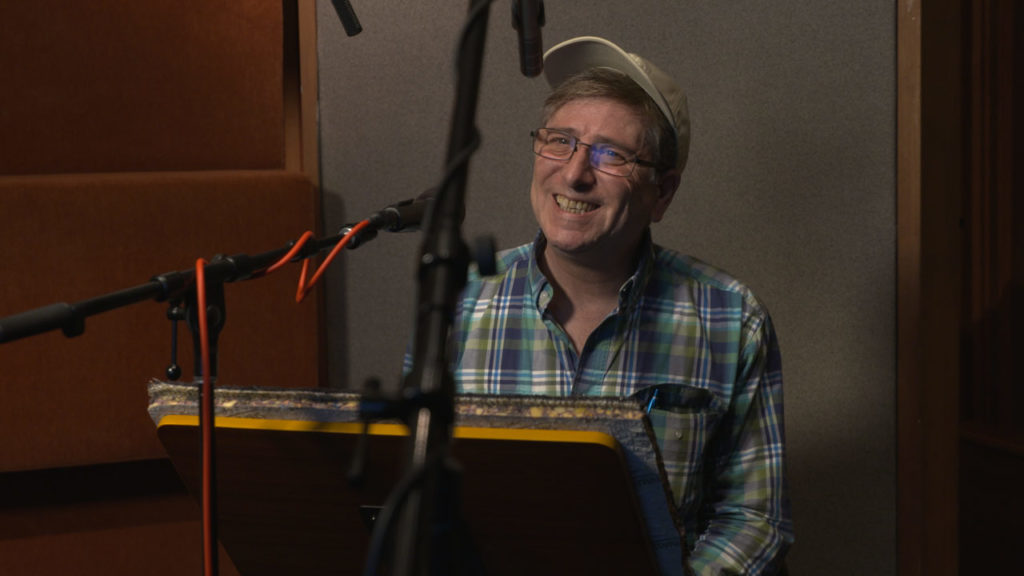 Corey Burton recording as Count Dooku for Star Wars Battlefront II.
