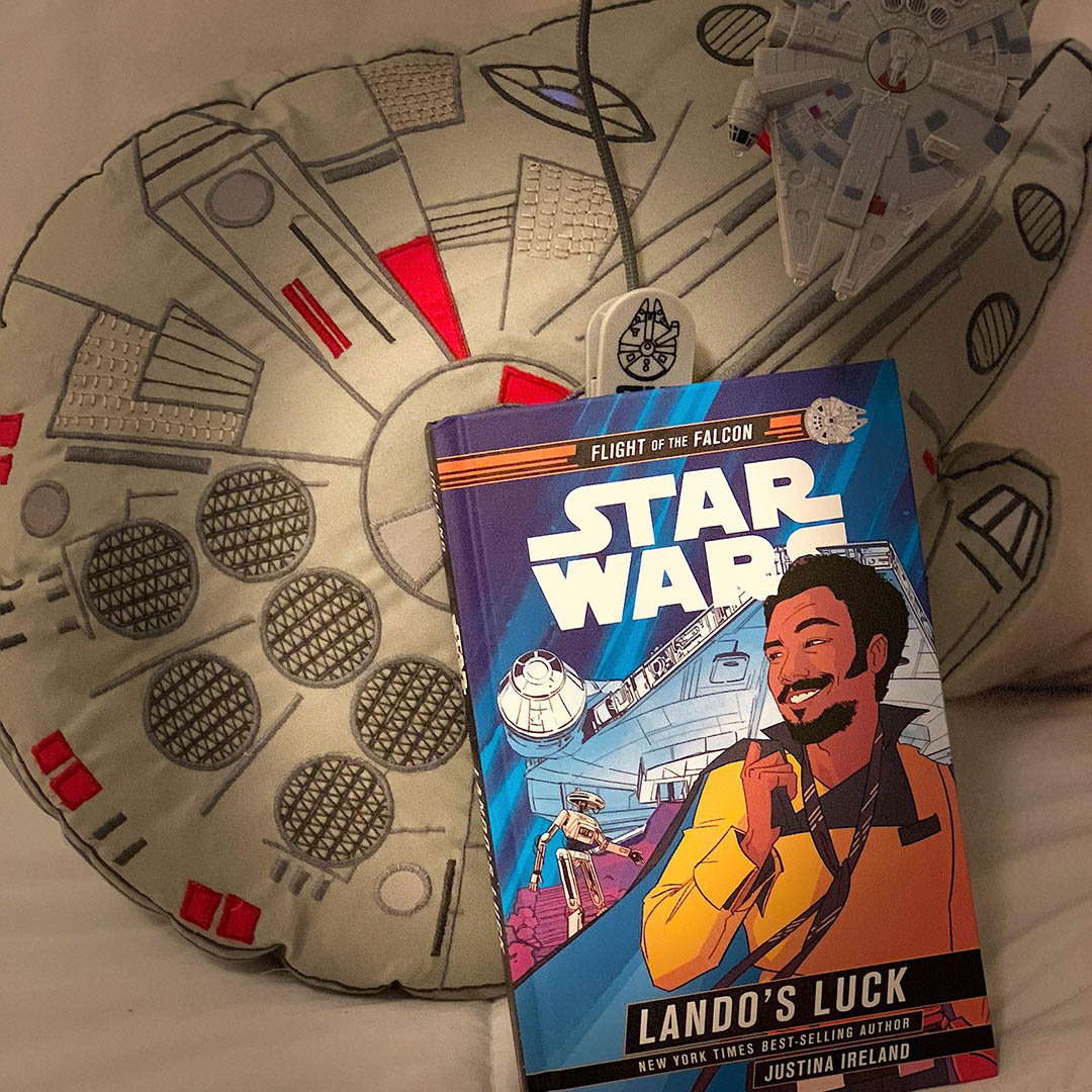 The cover of Lando's Luck.