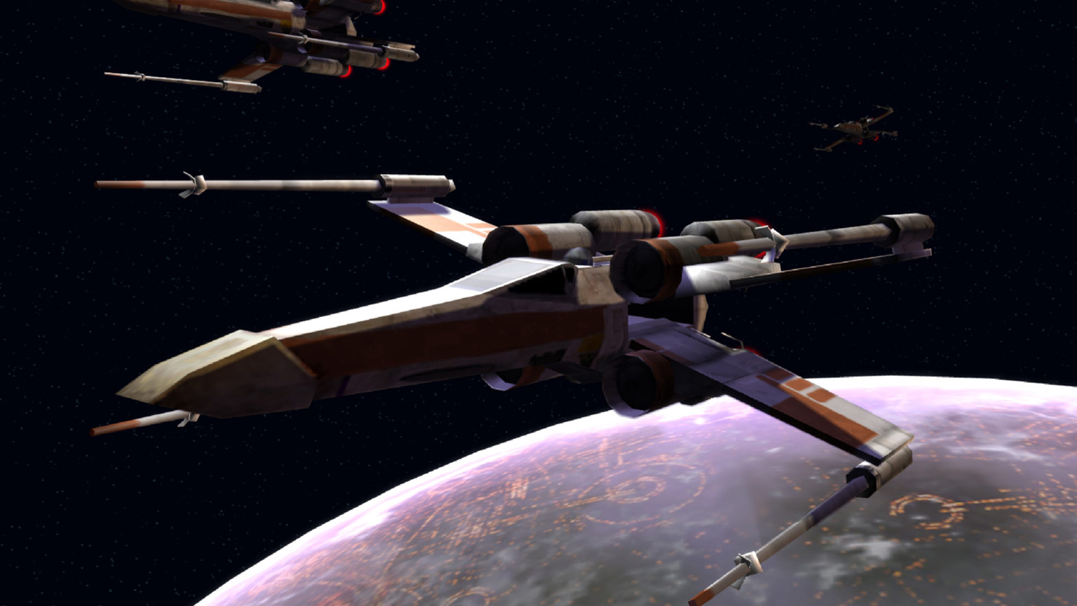X-wings from Star Wars: Empire at War.