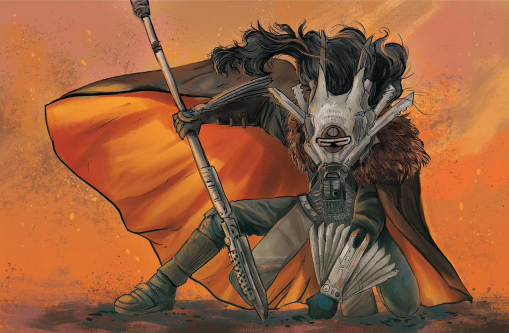 Enfys Nest art from Star Wars: Women of the Galaxy.
