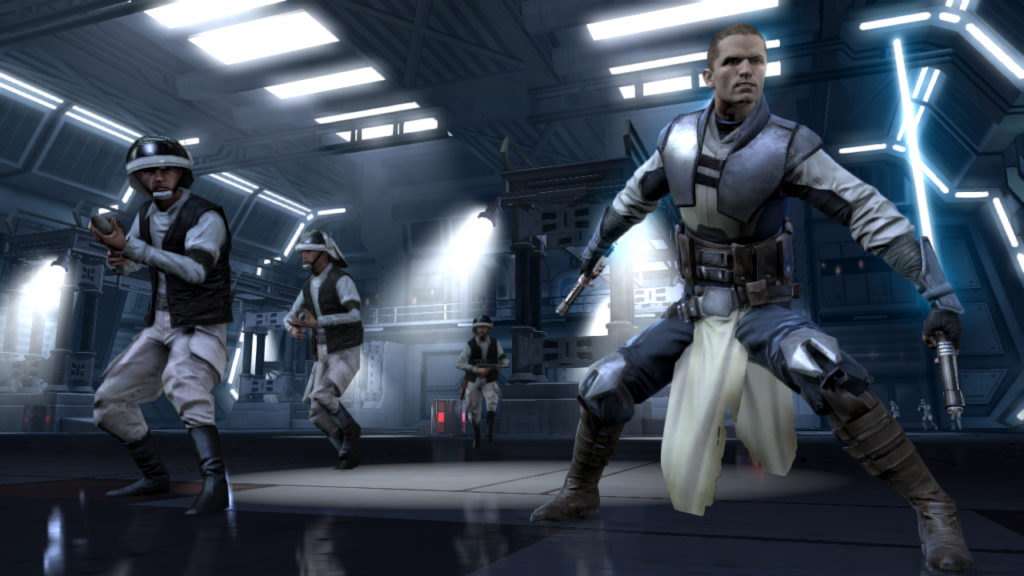 Starkiller readies for battle in Star Wars: The Force Unleashed II.
