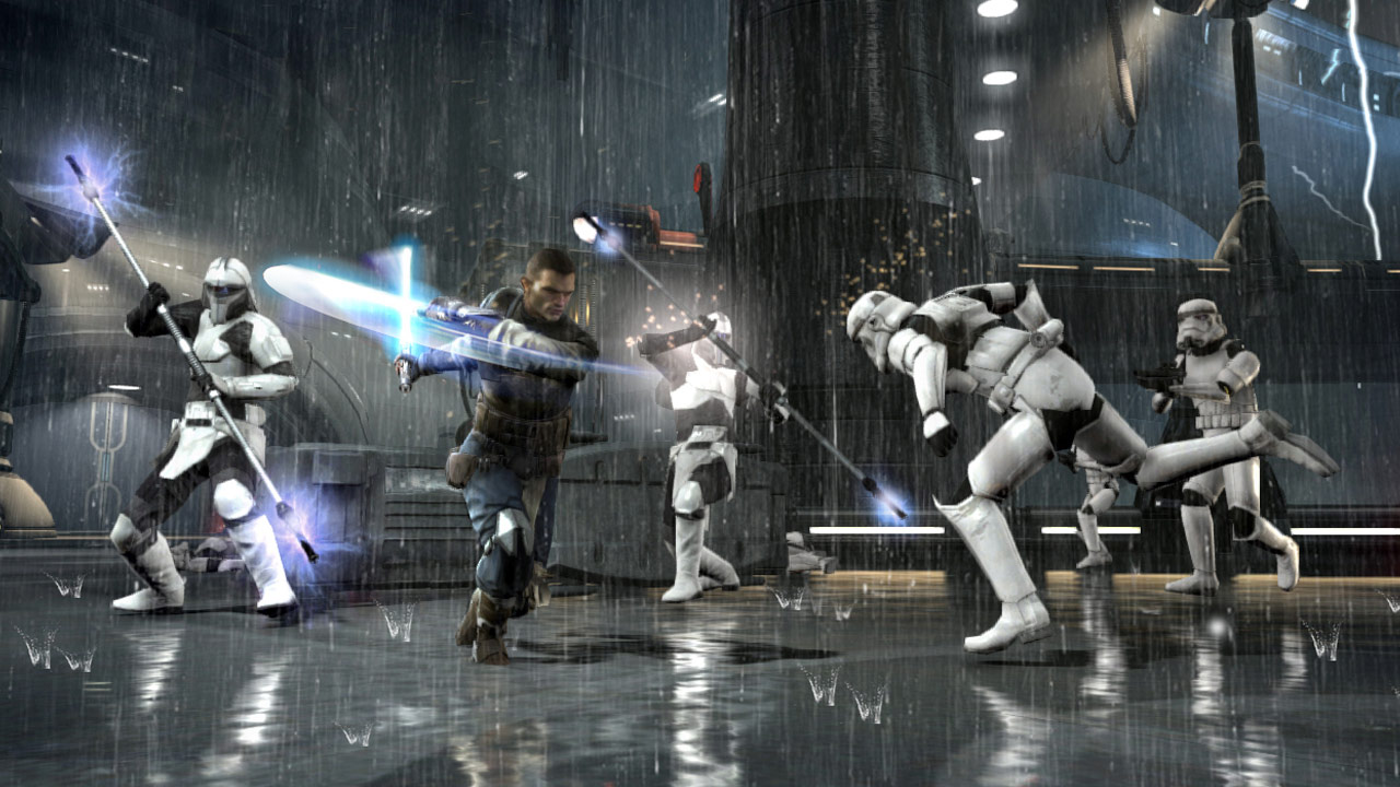 Starkiller battles in Star Wars: The Force Unleashed II.