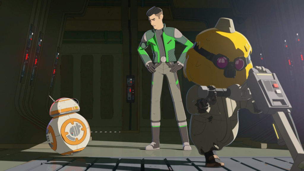 Opeepit cleaning in Star Wars Resistance.