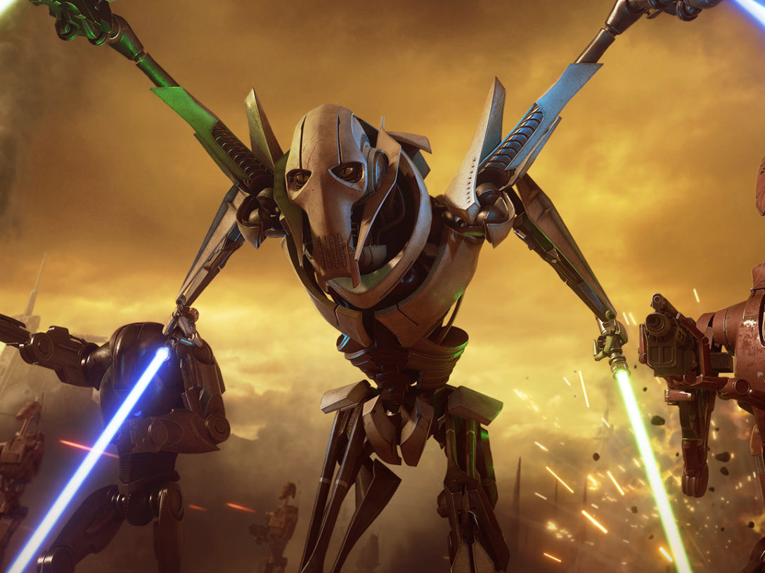 General Grievous in Star Wars Battlefront II.