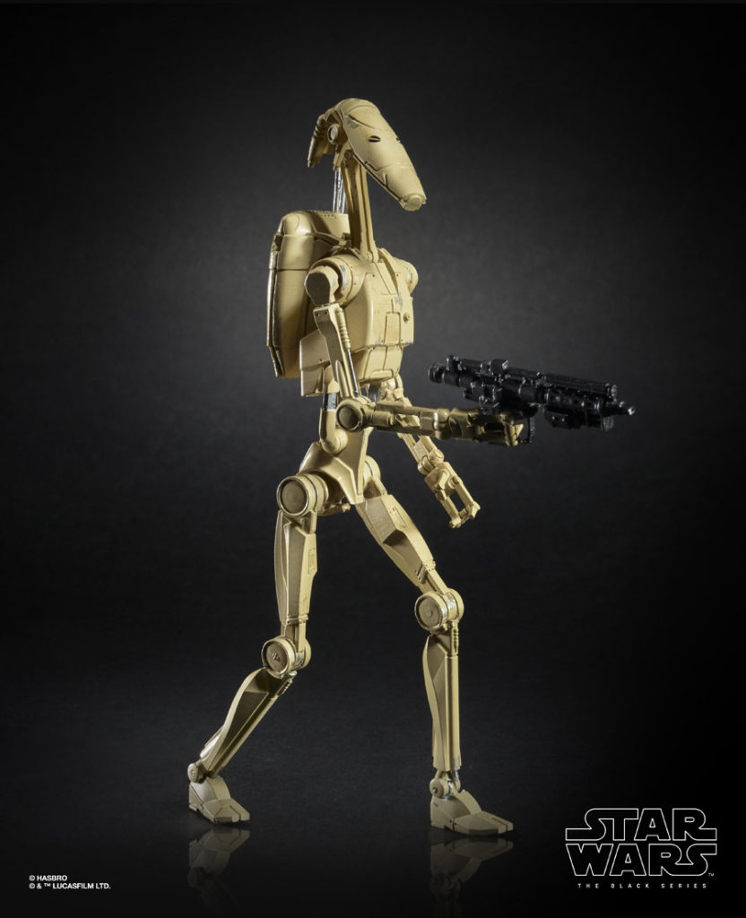 B-1 battle droid Star Wars: The Black Series figure.