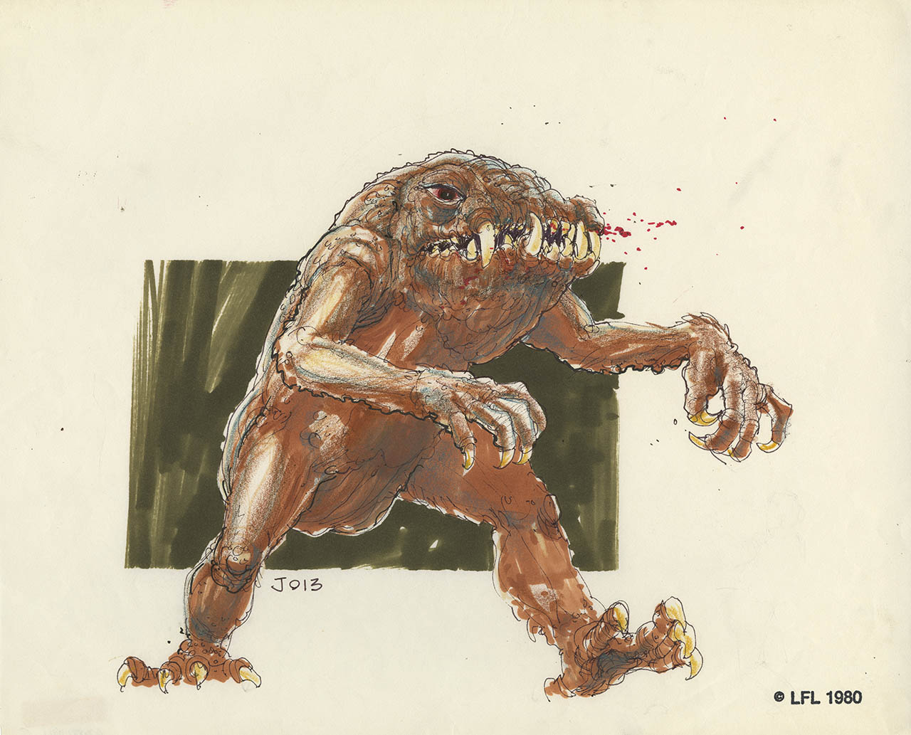 Concept art of the rancor.