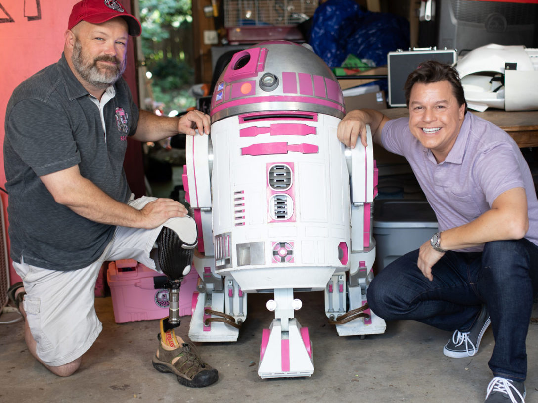 Albin Johnson, R2-KT, and Jordan Hembrough from Our Star Wars Stories.