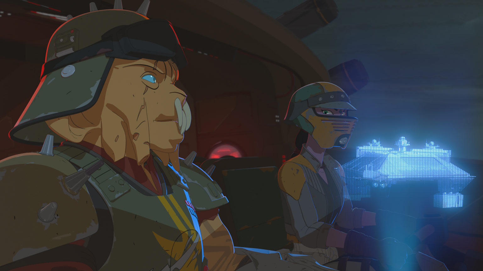 Kragan Gorr readies an attack in Star Wars Resistance.