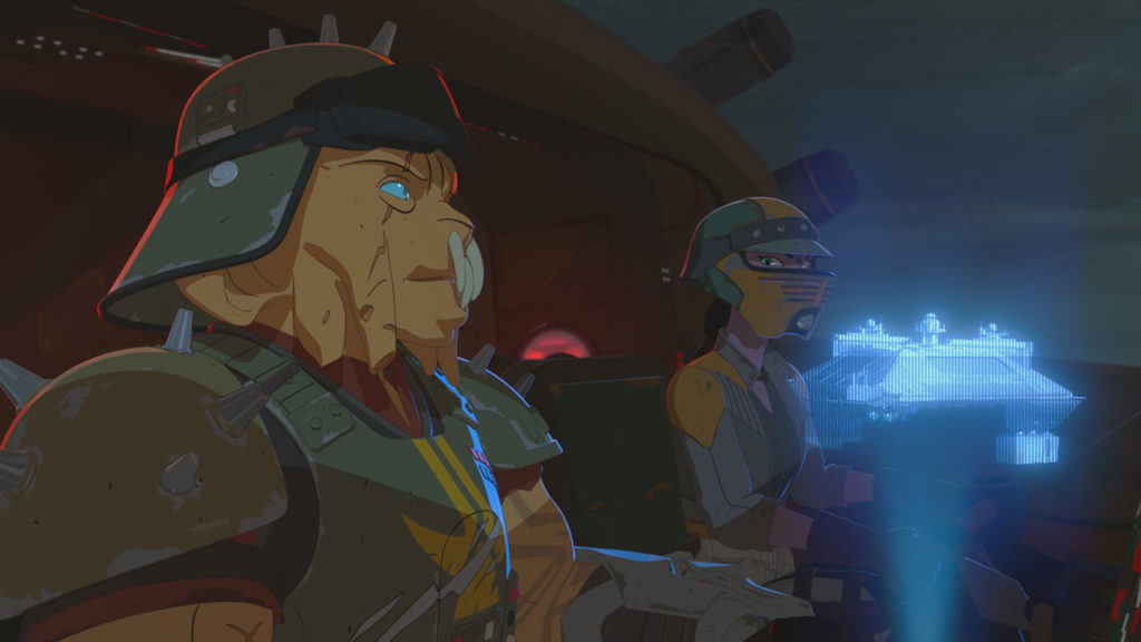 Kragan readies an attack in Star Wars Resistance.