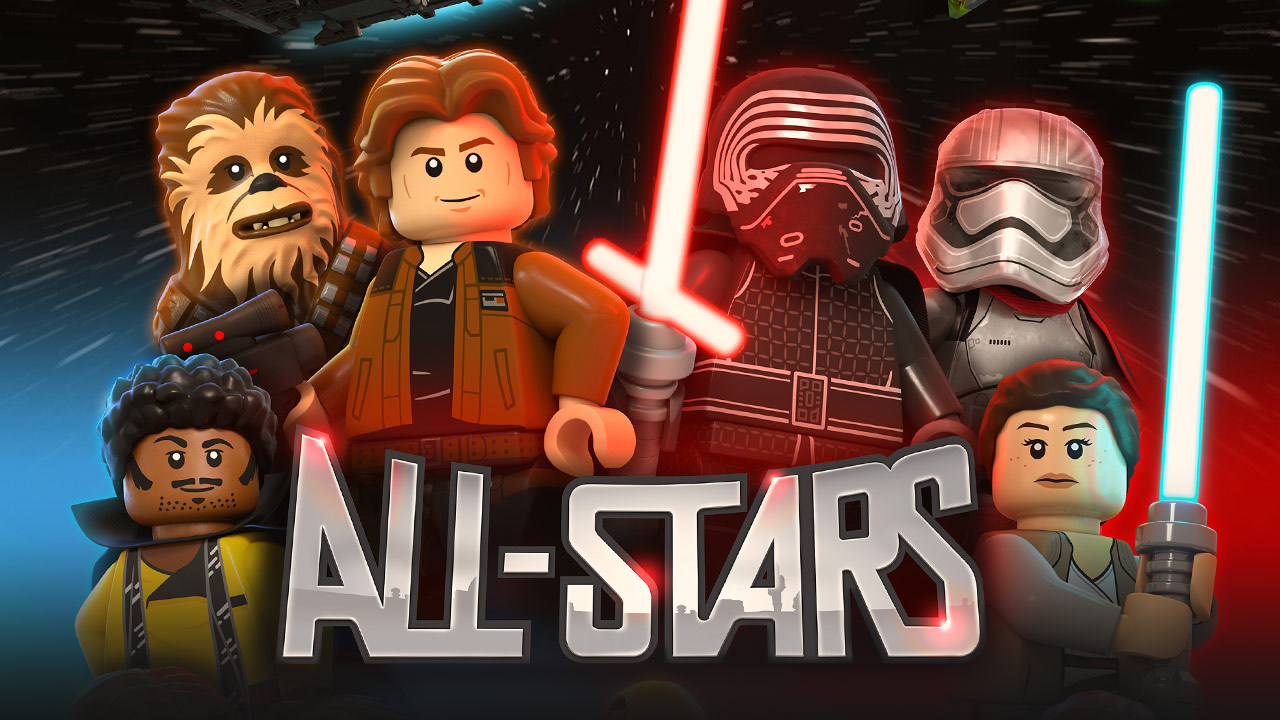 LEGO Star Wars: All-Stars characters and logo.