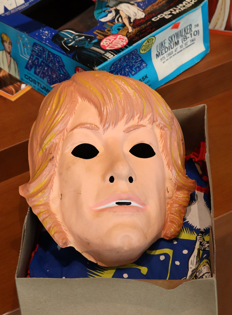 Vintage Luke Skywalker Halloween costume mask.