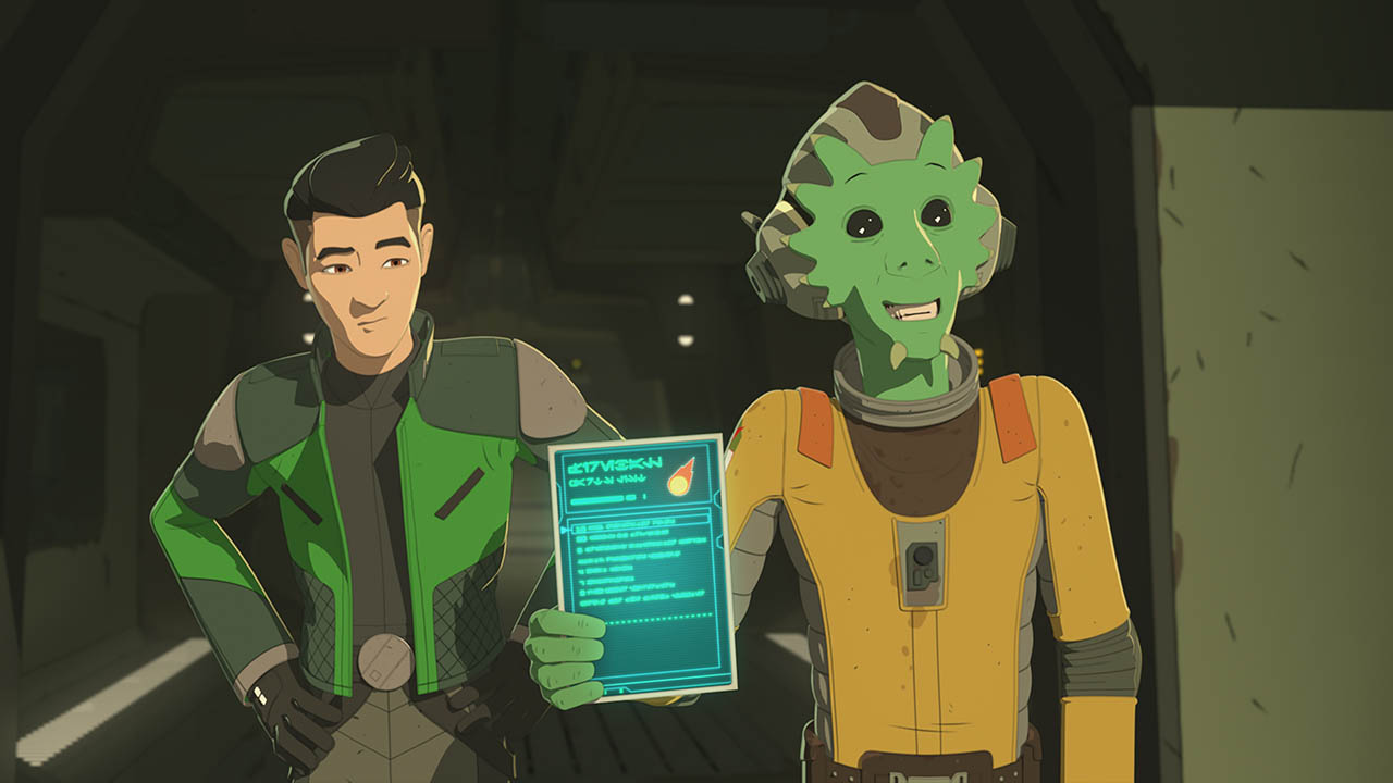 Neeku and Kaz in Star Wars Resistance.