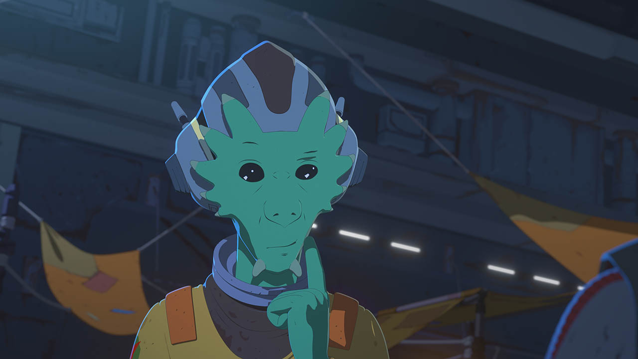 Neeku ponders in Star Wars Resistance.