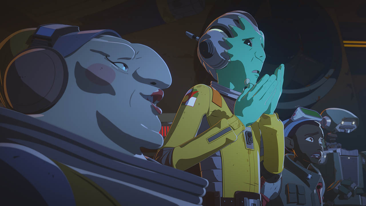 Neeku looks worried in Star Wars Resistance.