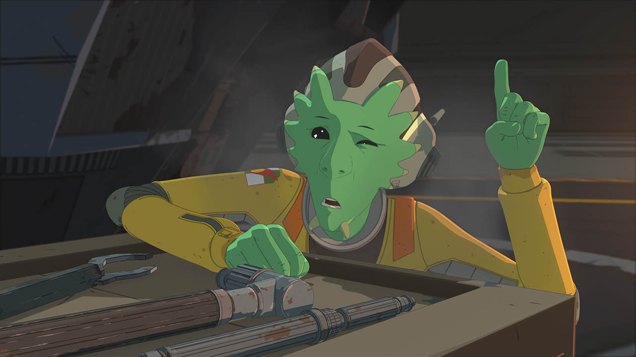 Neeku looks confused in Star Wars Resistance.