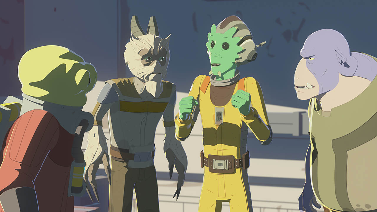 Neeku talks excitedly in Star Wars Resistance.