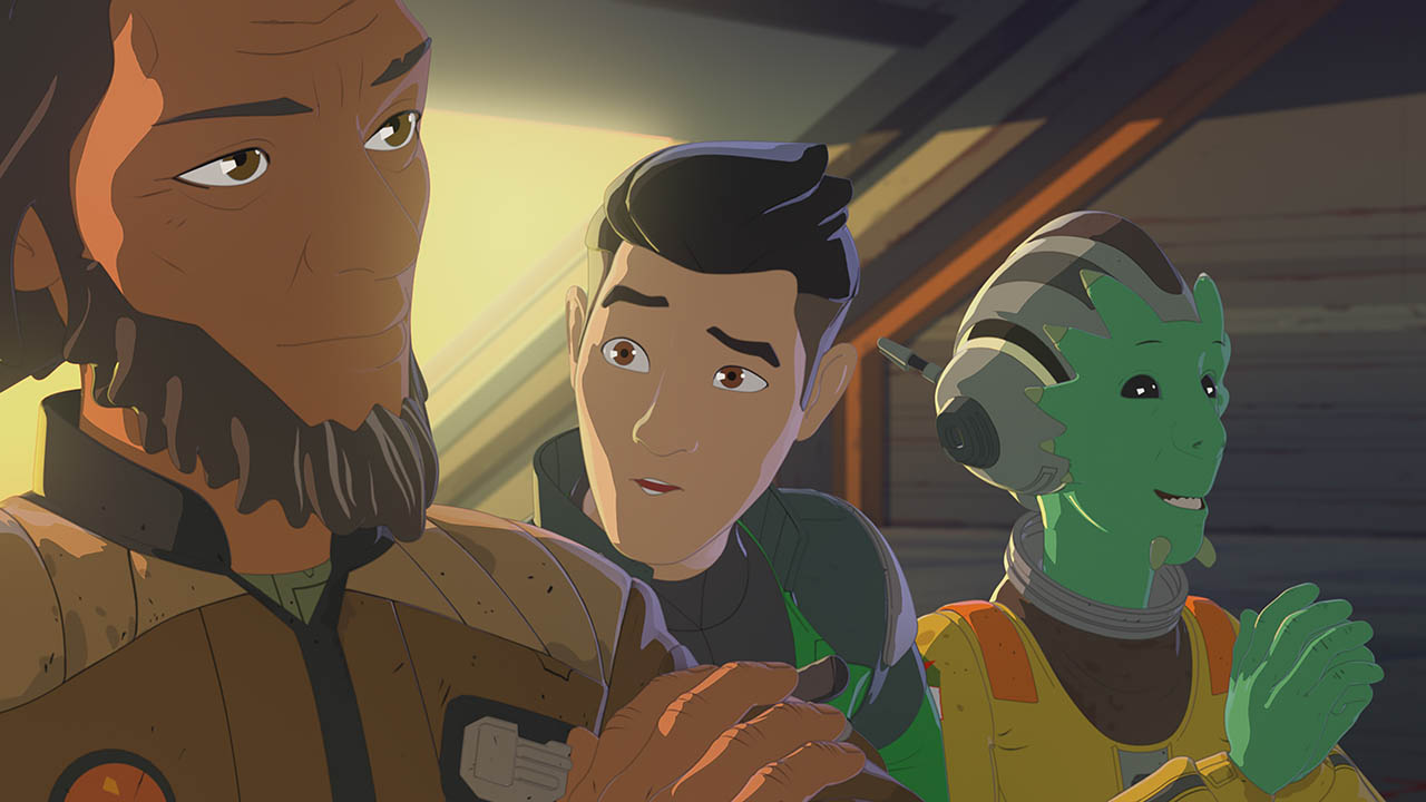 Neeku, Kaz and Yeager in Star Wars Resistance.