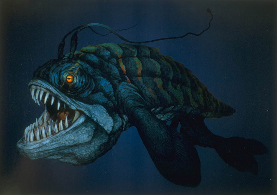 Concept art of the opee sea killer.