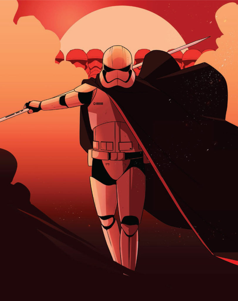 Captain Phasma art from Star Wars: Women of the Galaxy.